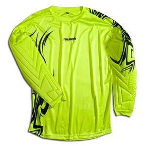 Reusch Bakura Longsleeve Goalkeeper Jersey (Medium, Lime Green/Black)