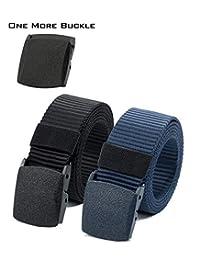 ViViViKiNG - Cinturón de nailon con hebilla de plástico para senderismo, táctico militar, 2 unidades