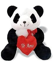 Pelúcia Urso Panda Te Amo Soft Toys 30 cm