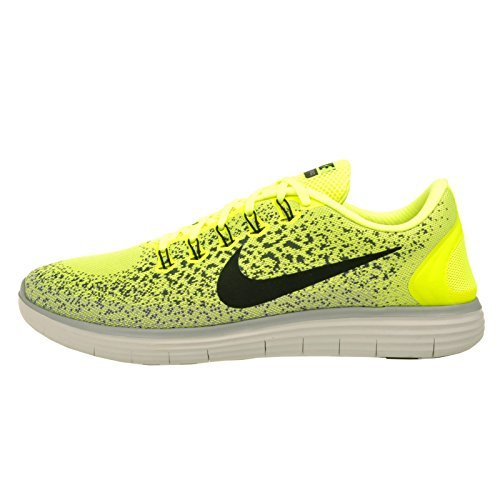 promo code 25933 6c795 Galleon - Nike Men s Free RN Distance, VOLT BLACK-DARK GREY-WOLF GREY, 15 M  US