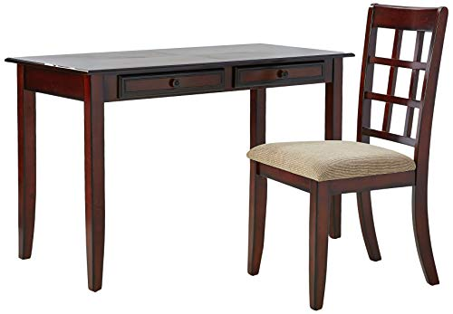 Coaster Casual Chestnut Wood Table Writing Desk with Two Drawers and Desk Chair ()
