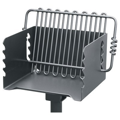 Pilot Rock Steel Park-Style Backyard Charcoal Grill-16 1/4in