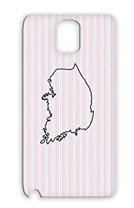 South Korea Black Japan Countries Flags Country Asia Yellow Sea Cities Case For Sumsang Galaxy Note 3 TPU