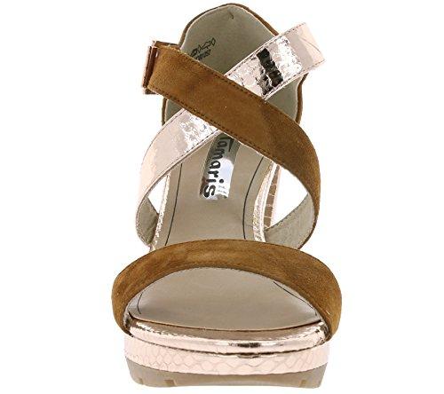 Marron 28041 sandales femme mode 36 Tamaris 1 HnTYpxnZ