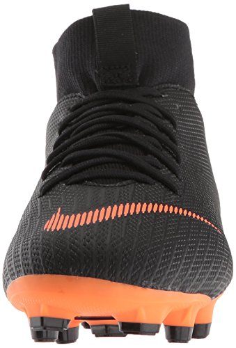Nike K-f-Schuh Jr. Superfly Academy MG, Botas de Fútbol Unisex Bebé Schwarz (Black/Total Orange-W 081)