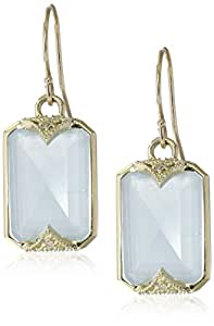 Amazon.com: Mizuki 14k Yellow Gold and Aquamarine Earrings