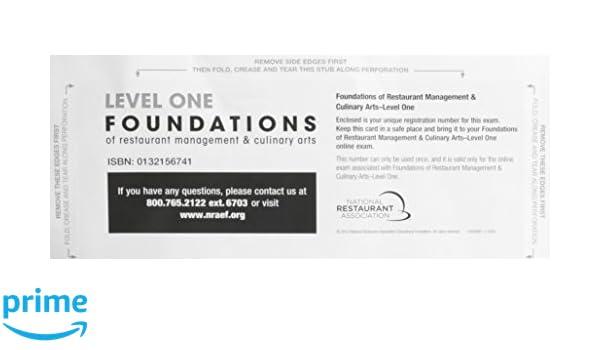 exam voucher for foundations of restaurant management culinary