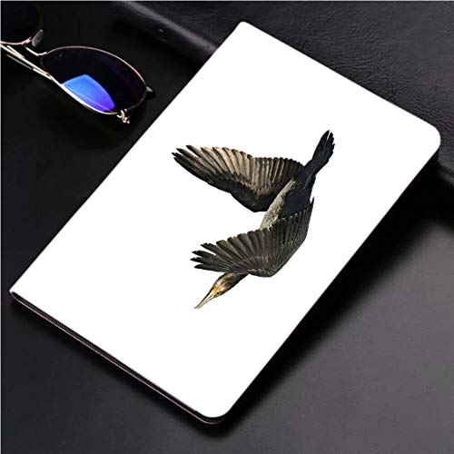 Compatible with 3D Printed iPad Pro 10.5 Case Great Cormorant (Phalacrocorax Carbo) 360 Degree Swivel Mount Cover for Automatic Sleep Wake up ipad case