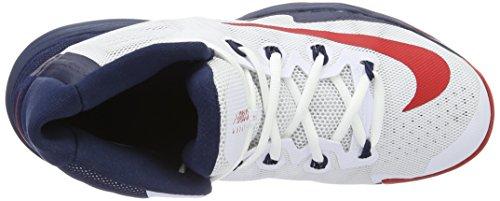 Nike Mens Air Max Audacity 2016 Scarpa Da Basket Bianca / Blu Notte / Puro Platino / Rosso Università