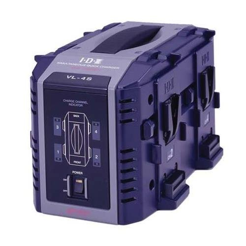 IDX VL-4S Multi-format 4-Channel Simultaneous V-Mount Li-Ion Fast Charger by IDX