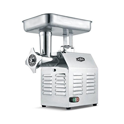 KWS TC-22 Commercial 1200W 1.5HP Electric Meat Grinder Stainless Steel Meat Grinder For Restaurant/Deli/ Home 1.5 Hp Meat Grinder