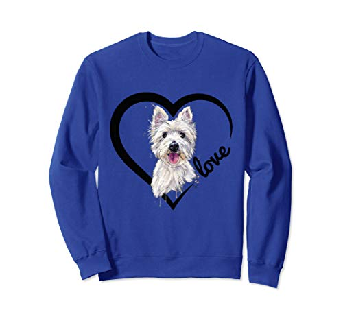(I Love My Westie Tshirt, Westie Shirts, Dog Sweatshirt)