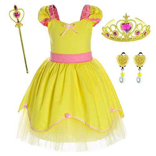 df6b51ad5a4 Princess Belle Costume Birthday Party Dress for Toddler Girls 2-3 Years (2T  3T