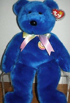 """Ty Beanie Buddies Clubby Bear 14"""" Mint Retired 1999"""