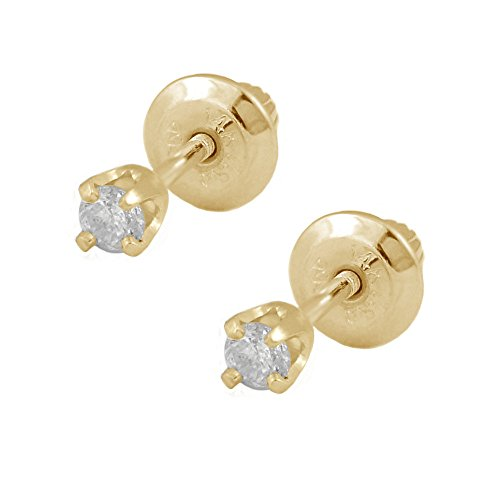 girls-jewelry-14k-yellow-gold-01ctw-diamond-screw-back-stud-earrings