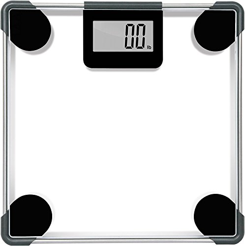 Digital Body Weight Bathroom Scale With Step-On Technology – Reliable and Precise lb and kg Results – Modern Clear Glass Tempered Tough Design – Large LCD Screen with Auto On/Off – 400 Pound Capacity