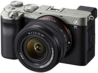 41EJFn5TCTL. AC  - Sony Alpha 7C Full-Frame Compact Mirrorless Camera Kit - Silver (ILCE7CL/S)