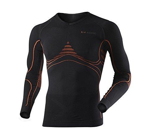 X-Bionic Eacc.Shirt Men's Long Sleeve Ski Undershirt Multi-Coloured black/orange Size:L/XL by X-Bionic