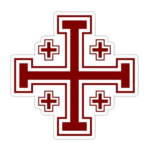 Jerusalem Cross Crusaders Vinyl Sticker Decal - 4