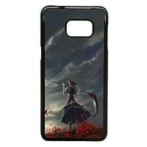 Chica Con Scythe Samsung Galaxy Note 5 Edge caja del teléfono celular funda Negro caja del teléfono celular Funda Cubierta EEECBCAAJ74012
