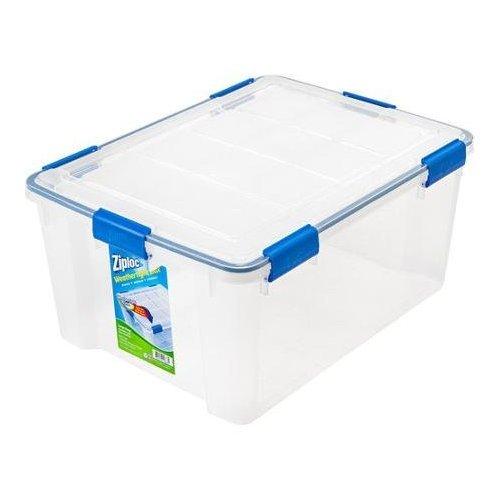 (Ziploc®, 4- Piece Large Deep Weathertight Storage Box Set Ideal for a Variety of Storage Purposes)
