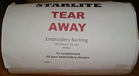 STABILISER EMBROIDERY BACKING 100mt X 20cm wide ROLL Heavy Weight