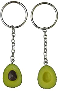 Cute Avocado Keychain Set for Bestfriends and Couples - Matching Keyrings Fits Like A Puzzle. A Perfect Gift for All Occasions Valentines Birthdays and More!