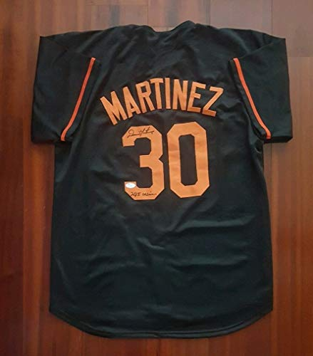 Dennis Martinez Autographed Signed Jersey Baltimore Orioles JSA