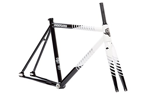 State Bicycle Co The Undefeated II Black & White Edition 7005 Fixed Gear Track Bike Frame Set