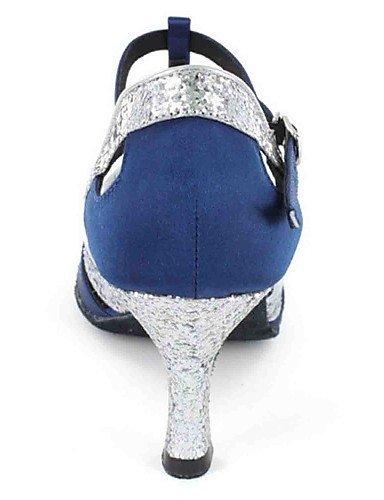 ShangYi Chaussures de danse(Noir / Bleu / Vert / Rouge / Gris) -Personnalisables-Talon Personnalisé-Similicuir-Latine Blue