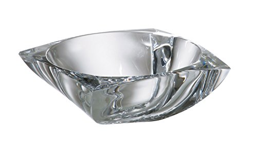 (Barski - European Quality Glass - Lead Free - Crystalline - Square Bowl - Ashtray - 4.2