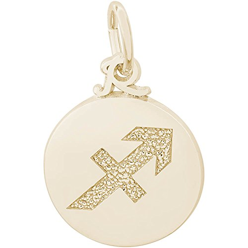 Rembrandt Charms Capricorn Charm, Gold Plated Silver (Charm Gold Capricorn Plated)