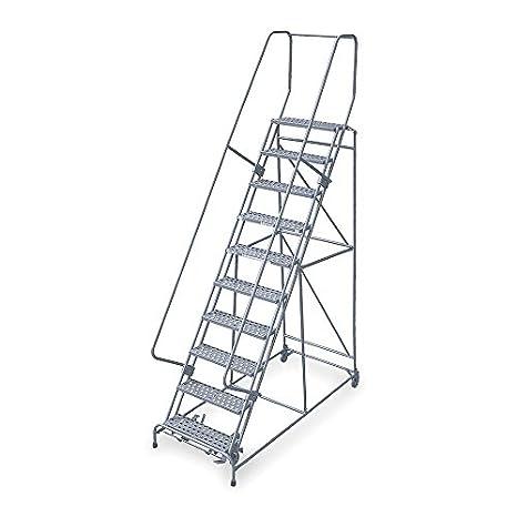 Cotterman 1710R2632A3E12B4W4C1P6-10-Step - Escalera de enrollar, paso de serrado, altura total de 130 kg, Capacidad de carga: Amazon.es: Amazon.es