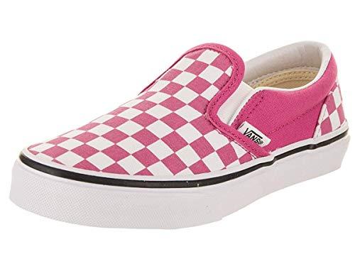 Vans Kids Classic Slip-On (Checkerboard) Raspberry Rose/True White VN0A32QIQ6T Kids Size -