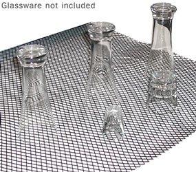 KEGWORKS Sani-Dry Bar Glass Shelf Liner - Black: Half Rol...