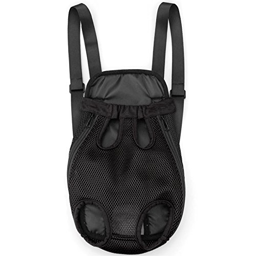 Alfie Pet by Petoga Couture - Alex Pet Backpack or Front Carrier with Adjustable Strap - Color Black, Size: Large