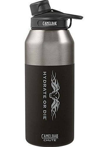 CamelBak 54157 Chute Vacuum Insulated HoD Water Bottle, 20 ounces, Stainless, Jet Black