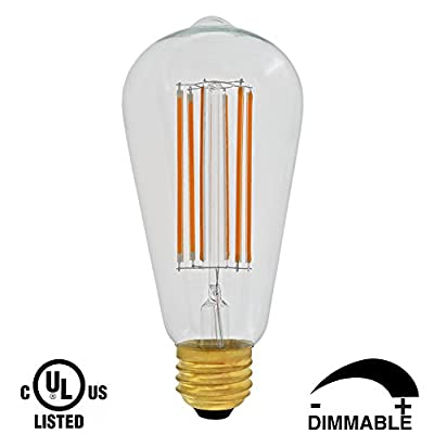 Dr.Lamp ST19 4W Antique Lamps,LED Edison Light Bulbs 2200K Warm White,Retro LED Filament Tiffany Lamp Replace 50W Incandescent Light,Vintage Led Bulbs Clear E26 Medium Base,Dimmable CUL Listed