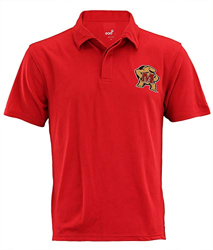 Outerstuff Maryland Terrapins NCAA Mens Short Sleeve Performance Polo, Red -