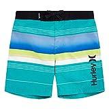 Hurley Boys' Toddler Board Shorts, Black Striped, 3T