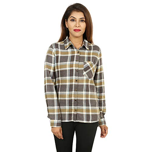 GOODWILL Women's Cottswool Multicolor Checkered Shirt
