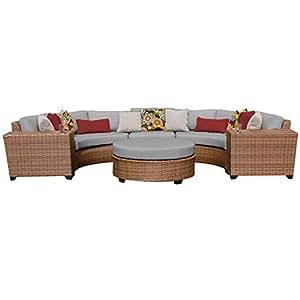 TK Classics laguna-06C-grey Laguna 6piezas al aire libre mimbre muebles de jardín de