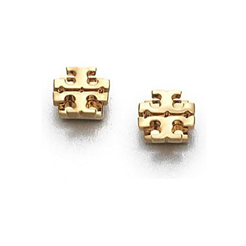 Fashion Gold Plated T Studs Earrings 1cm x 1cm Casual and Glamorous