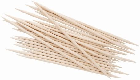 wooden cocktail sticks and skewers