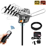 HDTV Antenna,Sobetter Amplified Outdoor 150 Mile Range Digital TV Antenna UHF/VHF/FM - 360°Rotation - High Performance Outdoor Antenna TV, 32.8-Feet Coax Cable(Without Pole)