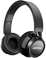 Mpow Thor,Auriculares Bluetooth Diadema,Casco Bluetooth Inalámbrico con Micrófono,Casco Plegable Headphone Bluetooth Manos Libres y Cable de Audio