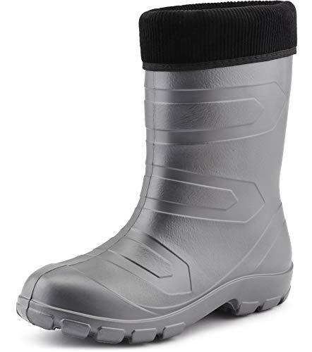 Sécurité noir Ladeheid De Chaussures Thermo Argent Lalmg879 Eva Pluie Bottes Femme fFq7O