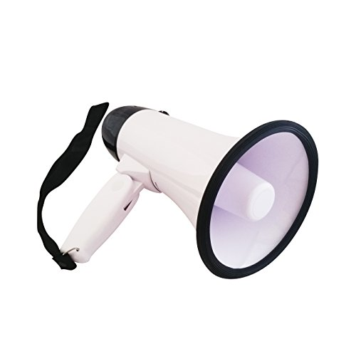 Mag Armor Dream Apparel Megaphone Speaker PA Bullhorn W Built-in Siren - Built in Handle, Ideal for Football, Soccer, Baseball, Hockey, Basketball Cheerleading Fans, Coaches, Safety (Cheer Coach Megaphone)
