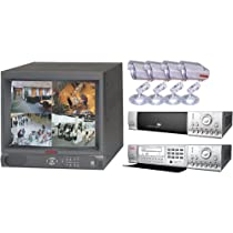 Mace Security Products MSP-14DRW 14 Monitor /4-Channel Digital Video Recorder Combination w/CD Writer & 4 Security Cameras (Color)