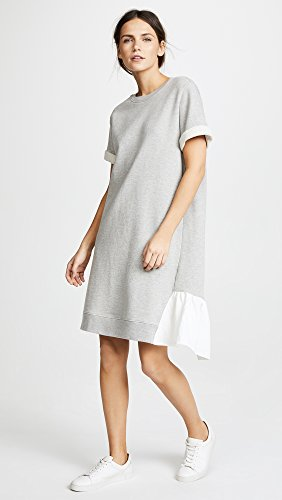 Grey with Contrast Clu Heather Ruffles Women's Asymmetrical Dress qPORz